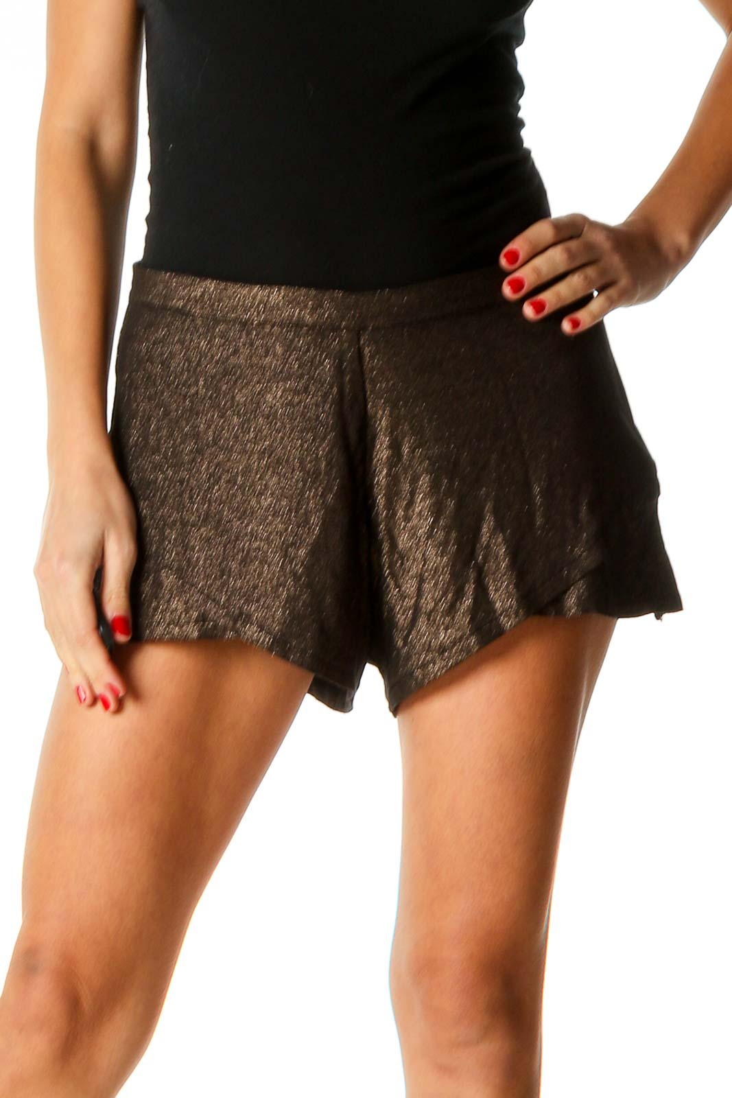 Brown Chic Shorts Front