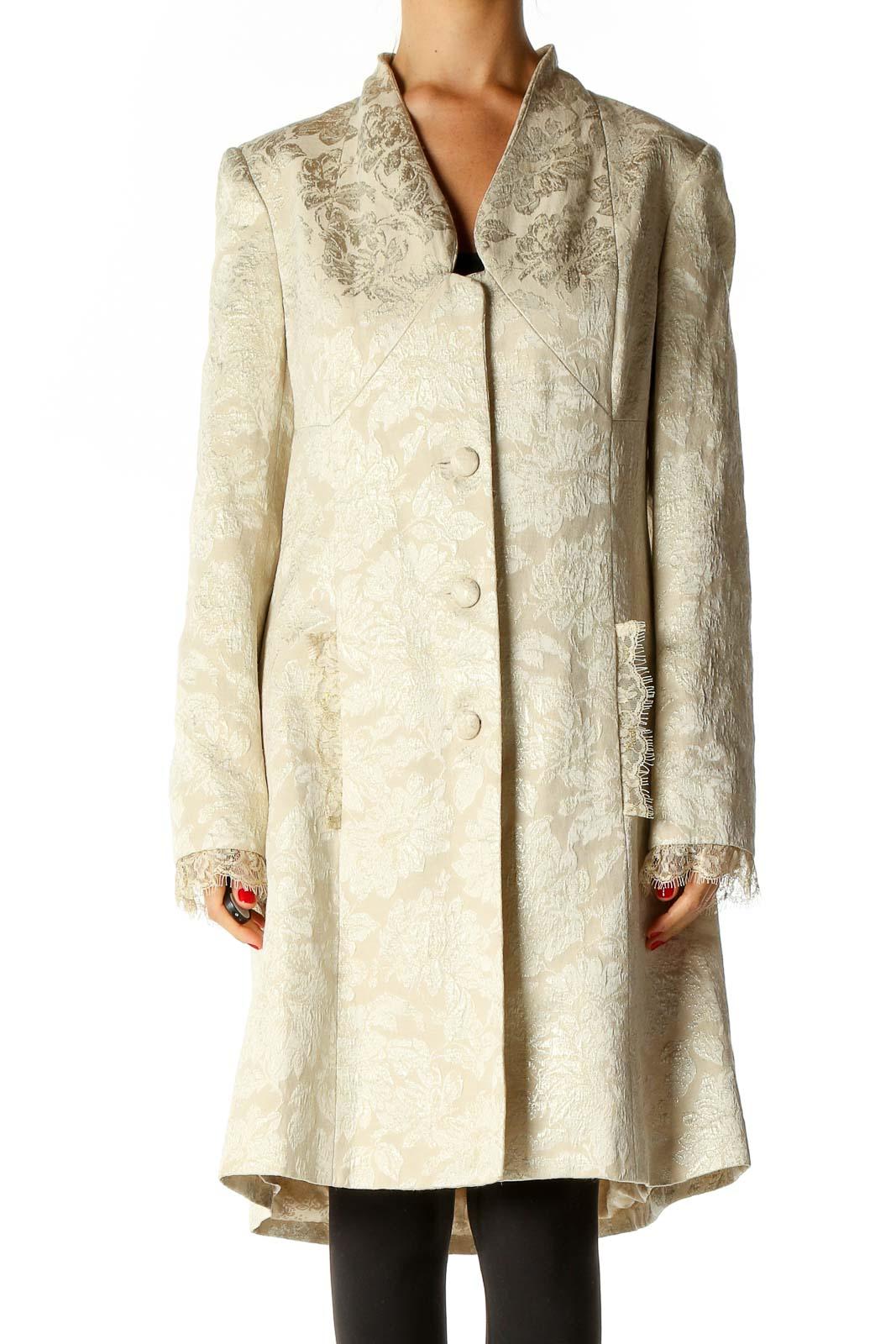 Beige Overcoat Front
