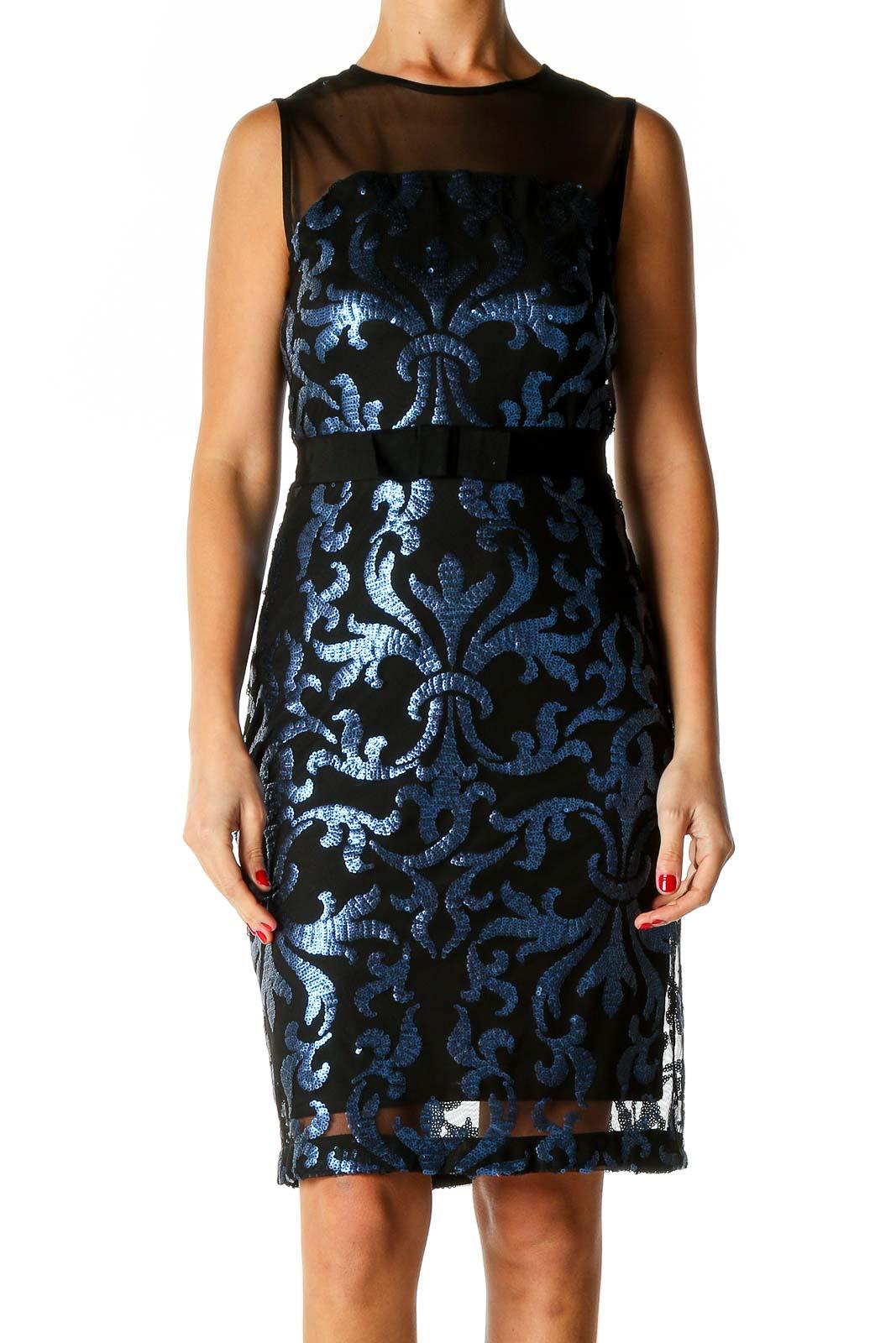 Black Cocktail Sheath Dress Front