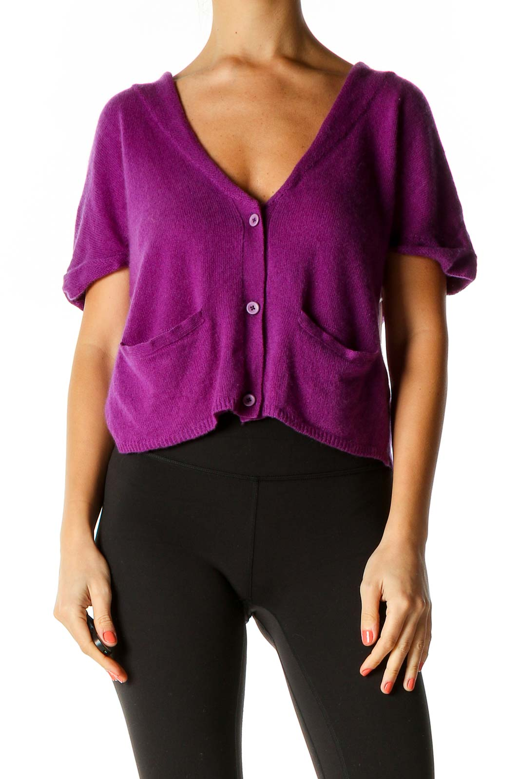 Purple Cardigan Front