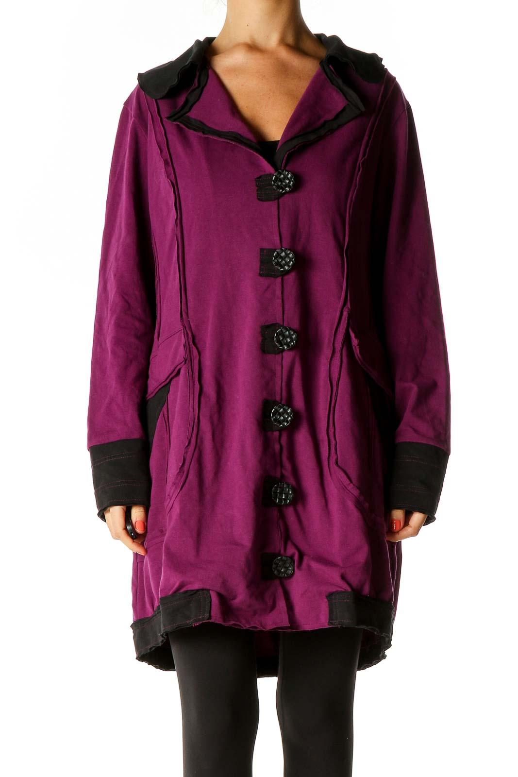 Purple Coat Front