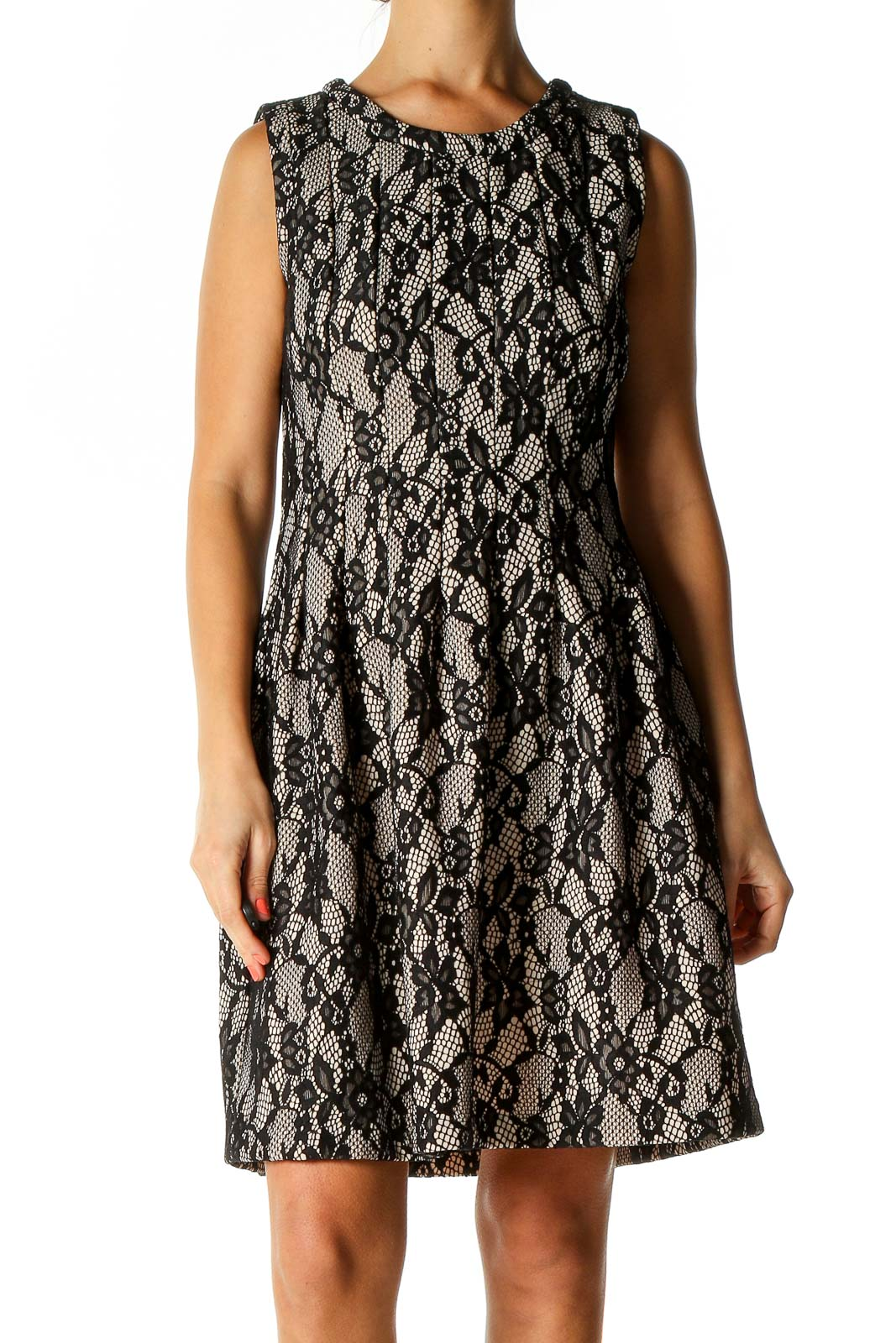 Black Day Fit & Flare Dress Front