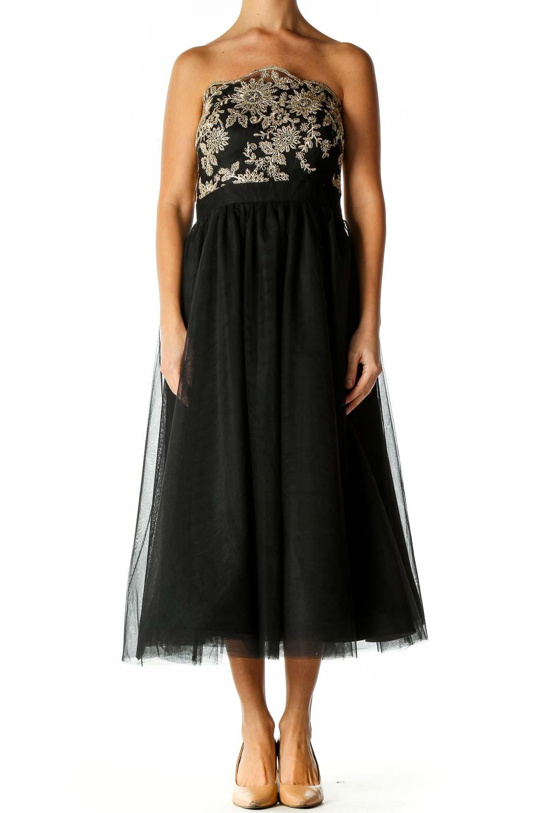 Black Chic Semiformal Dress Front