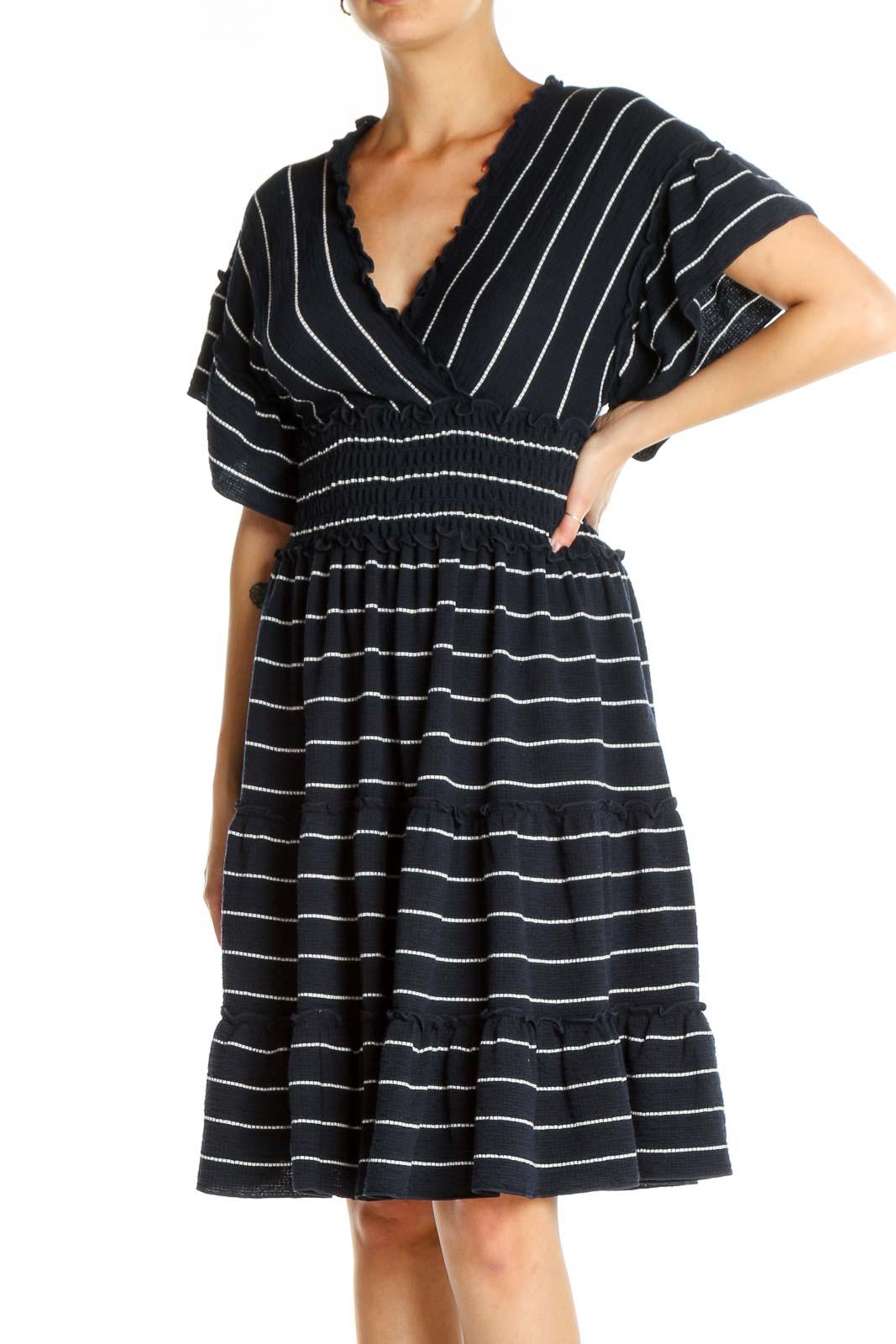 Blue Striped Dress Front