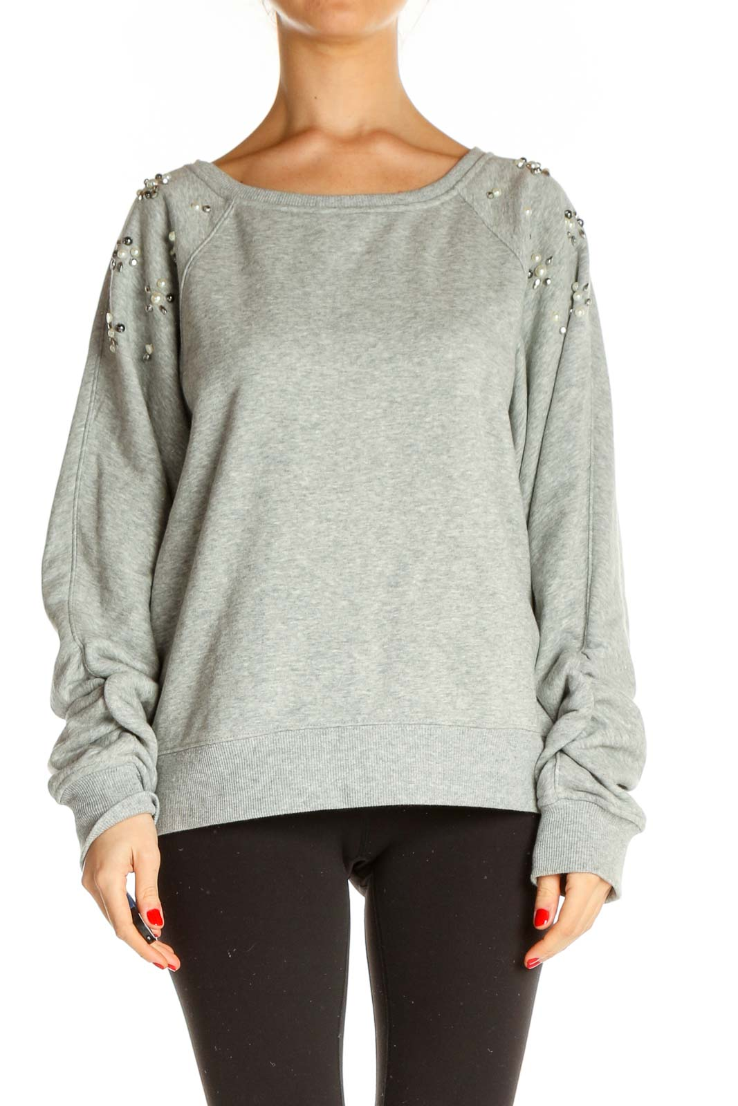 Gray Sweatshirt Front