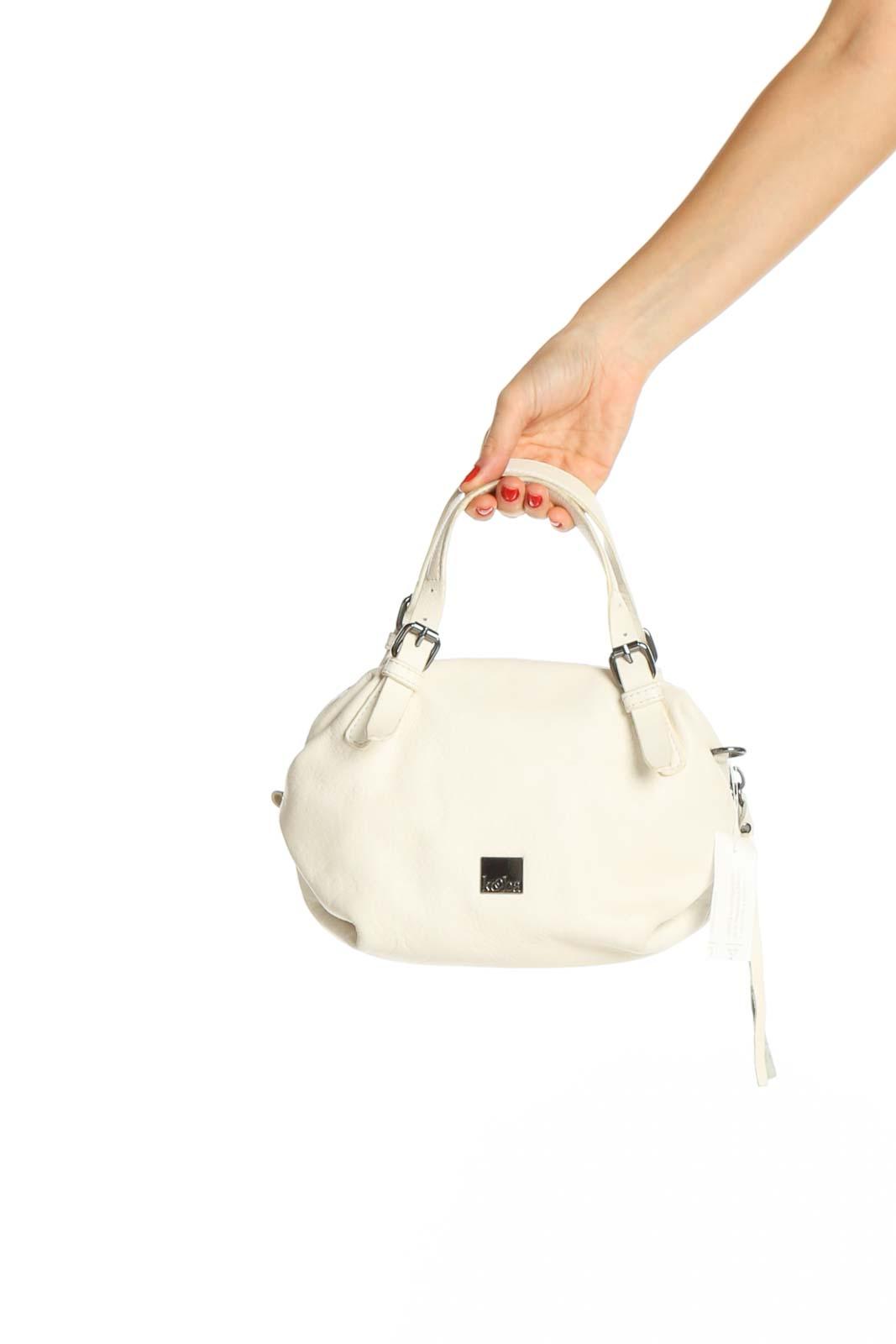 Beige Satchel Bag Front
