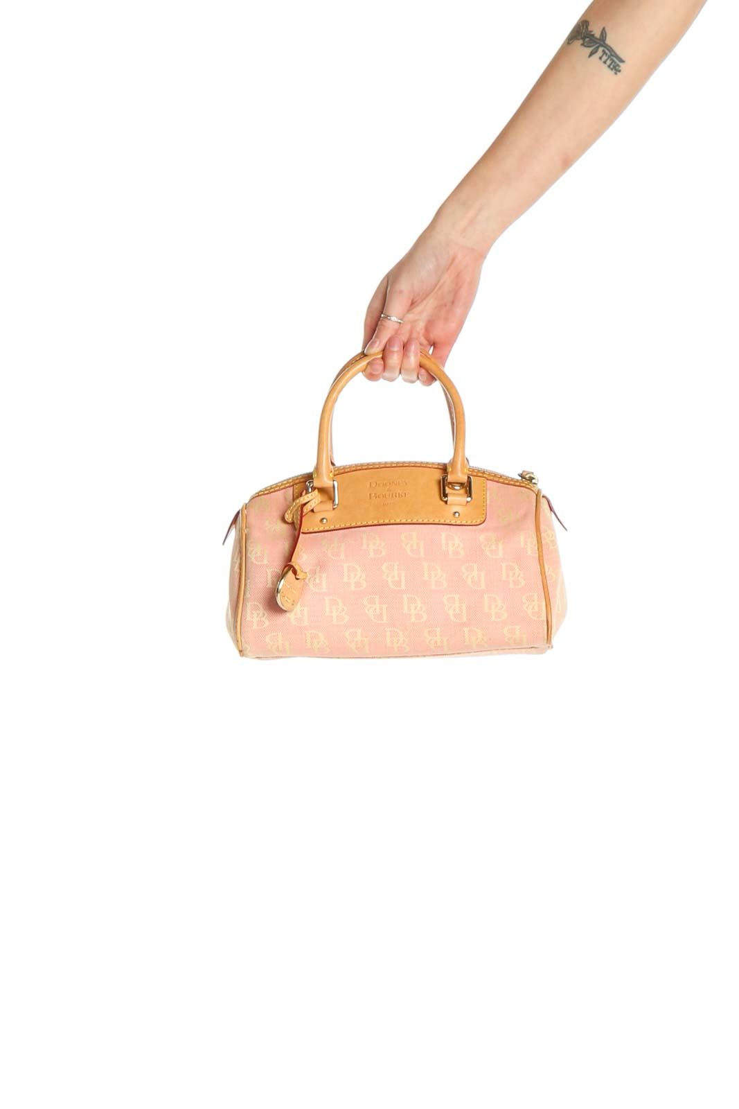 Beige Satchel Bag Front