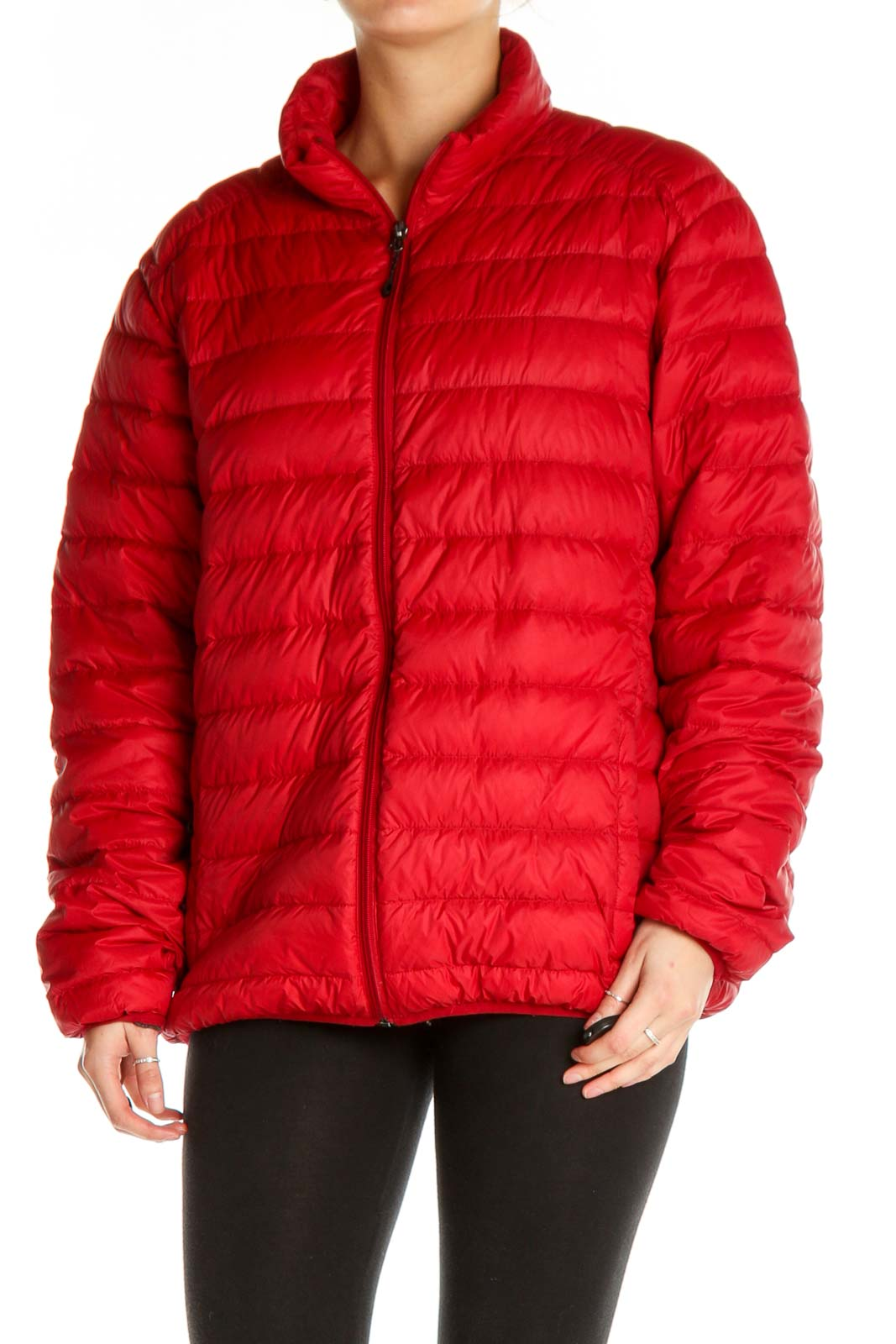 Red Puffer Jacket Front
