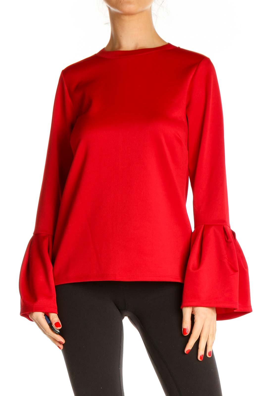 Red Chic Blouse Front