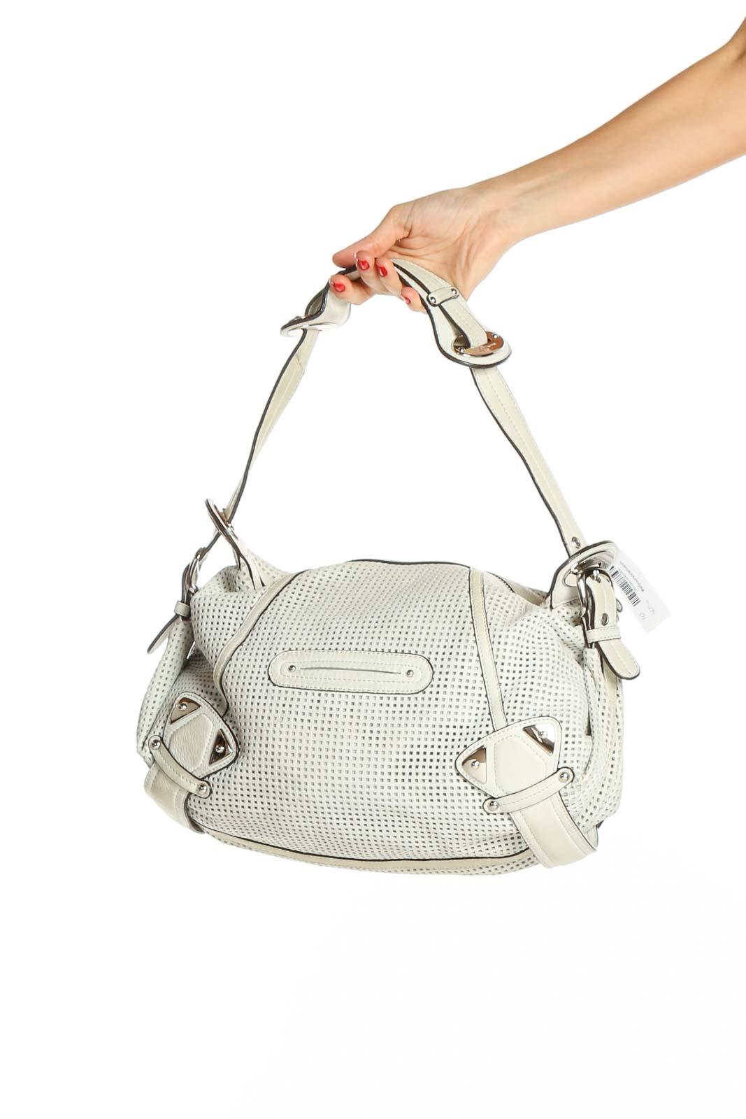 White Shoulder Bag Front