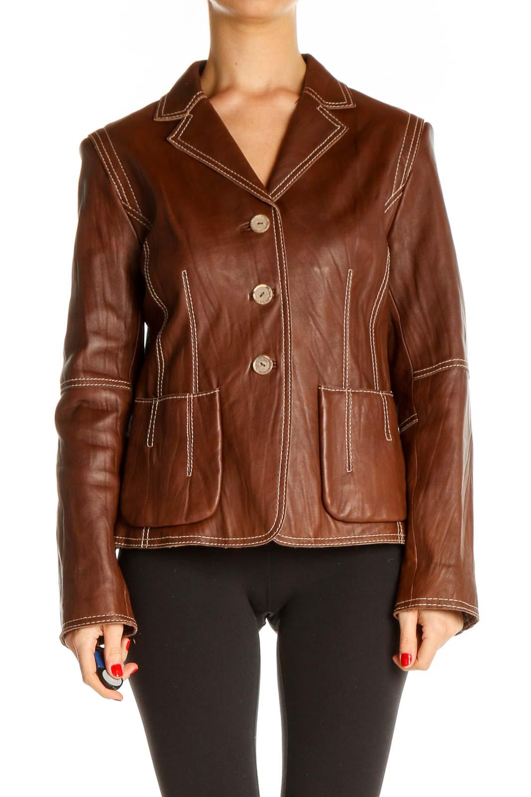 Brown Blazer Front