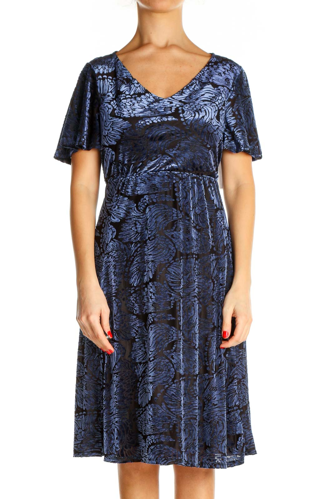 Blue Day Fit & Flare Dress Front