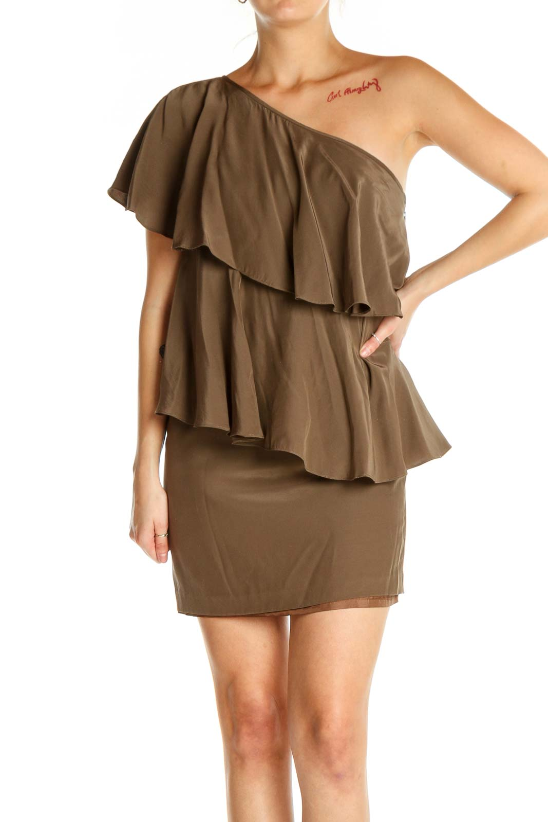 Brown Cocktail Dress Front