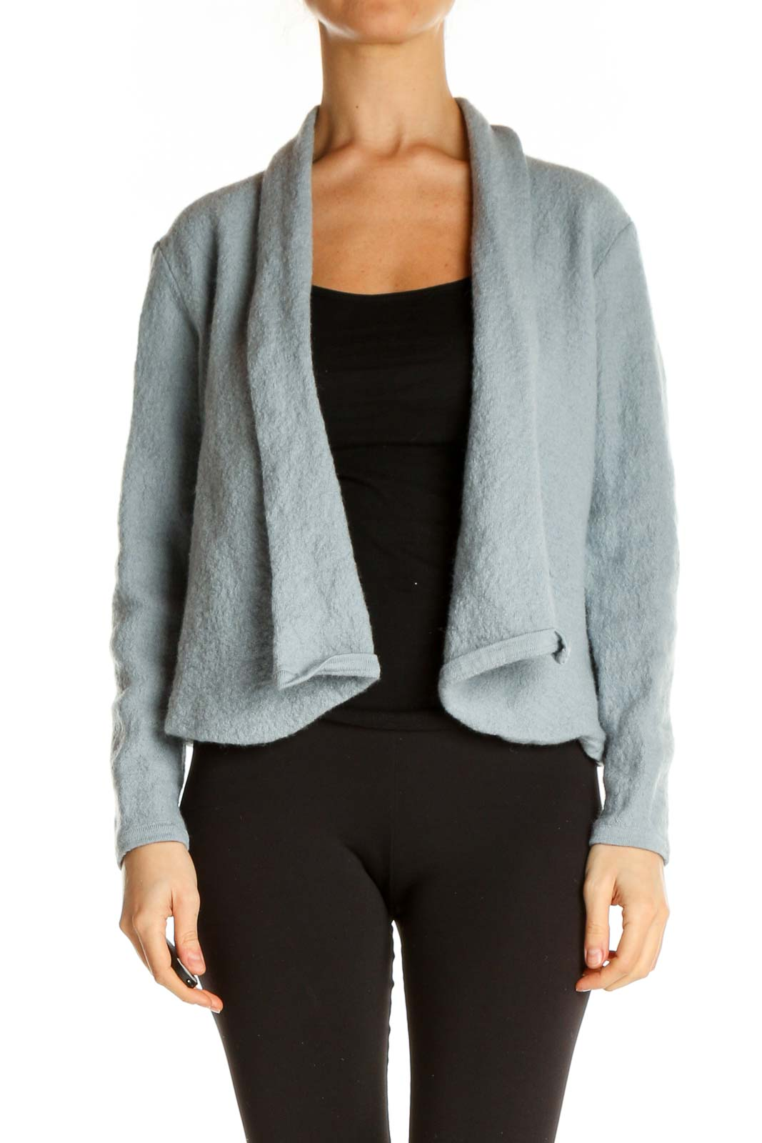 Gray Cardigan Front