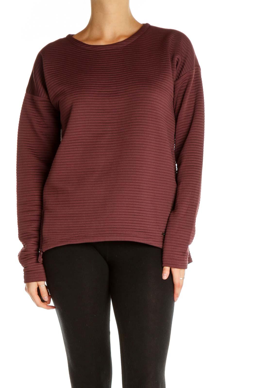 Red Striped Sweatshirt Front