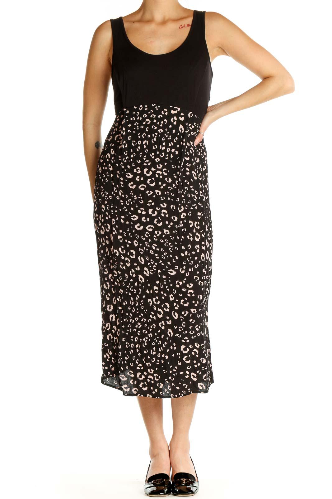 Black Classic Sheath Dress Front