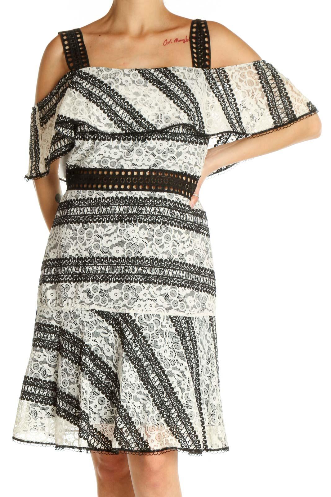 White Classic Sheath Dress Front