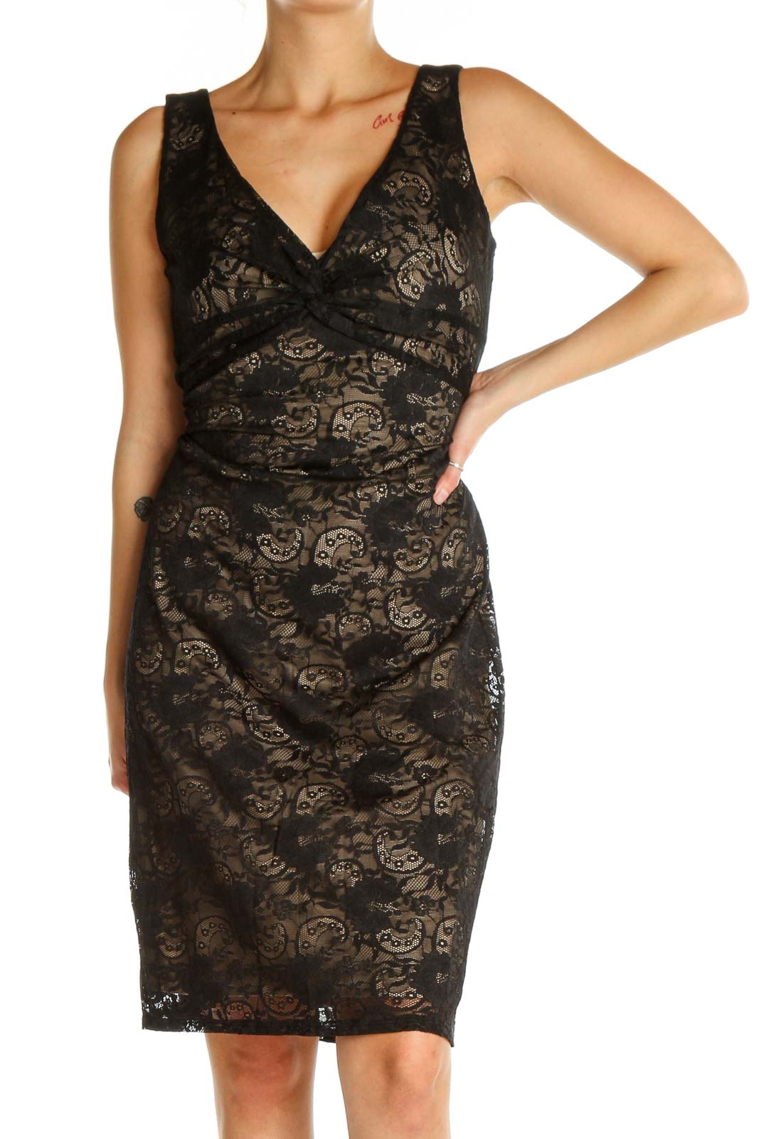 Black Lace Dress Front