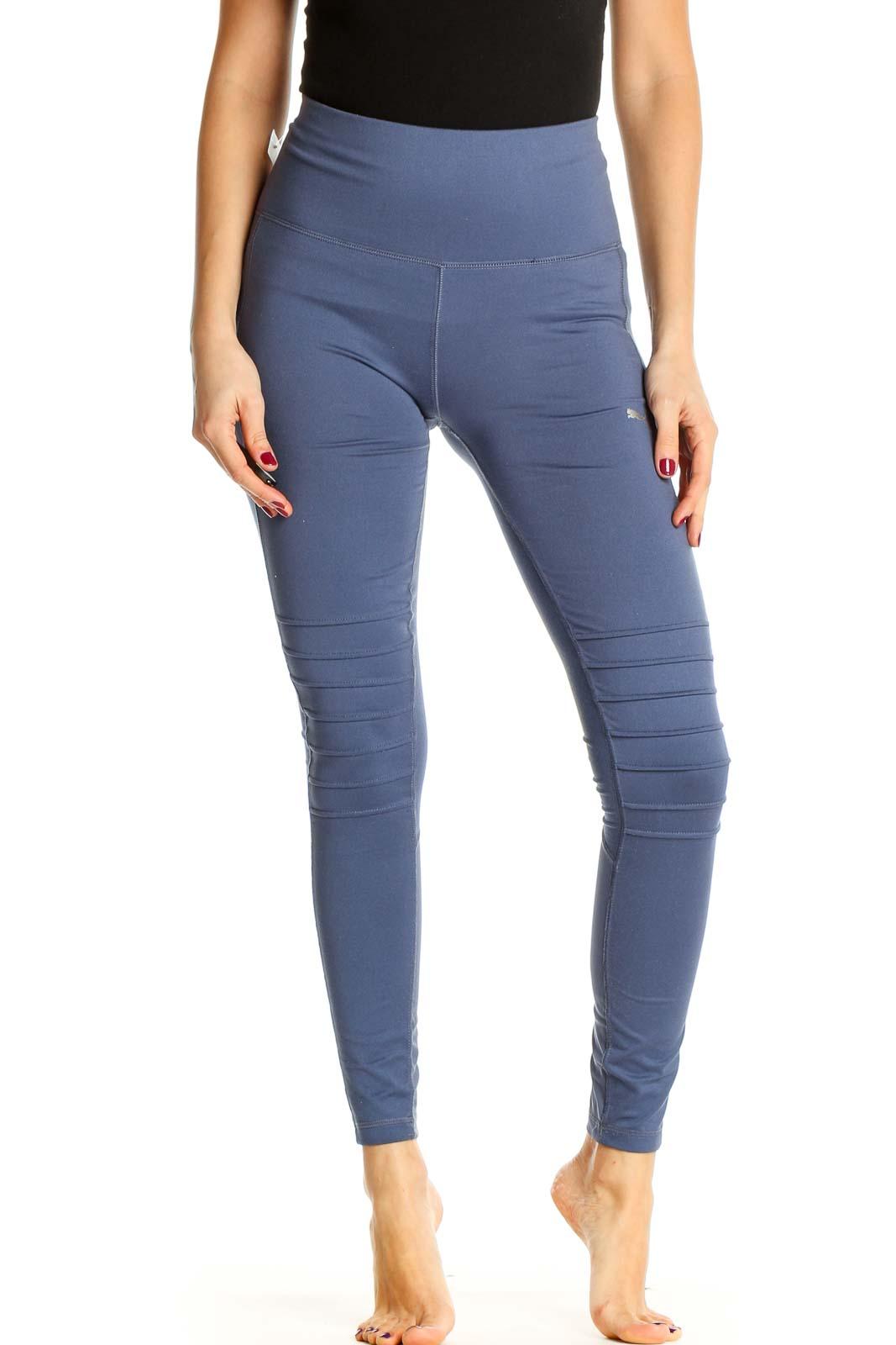 Blue All Day Wear Leggings Front