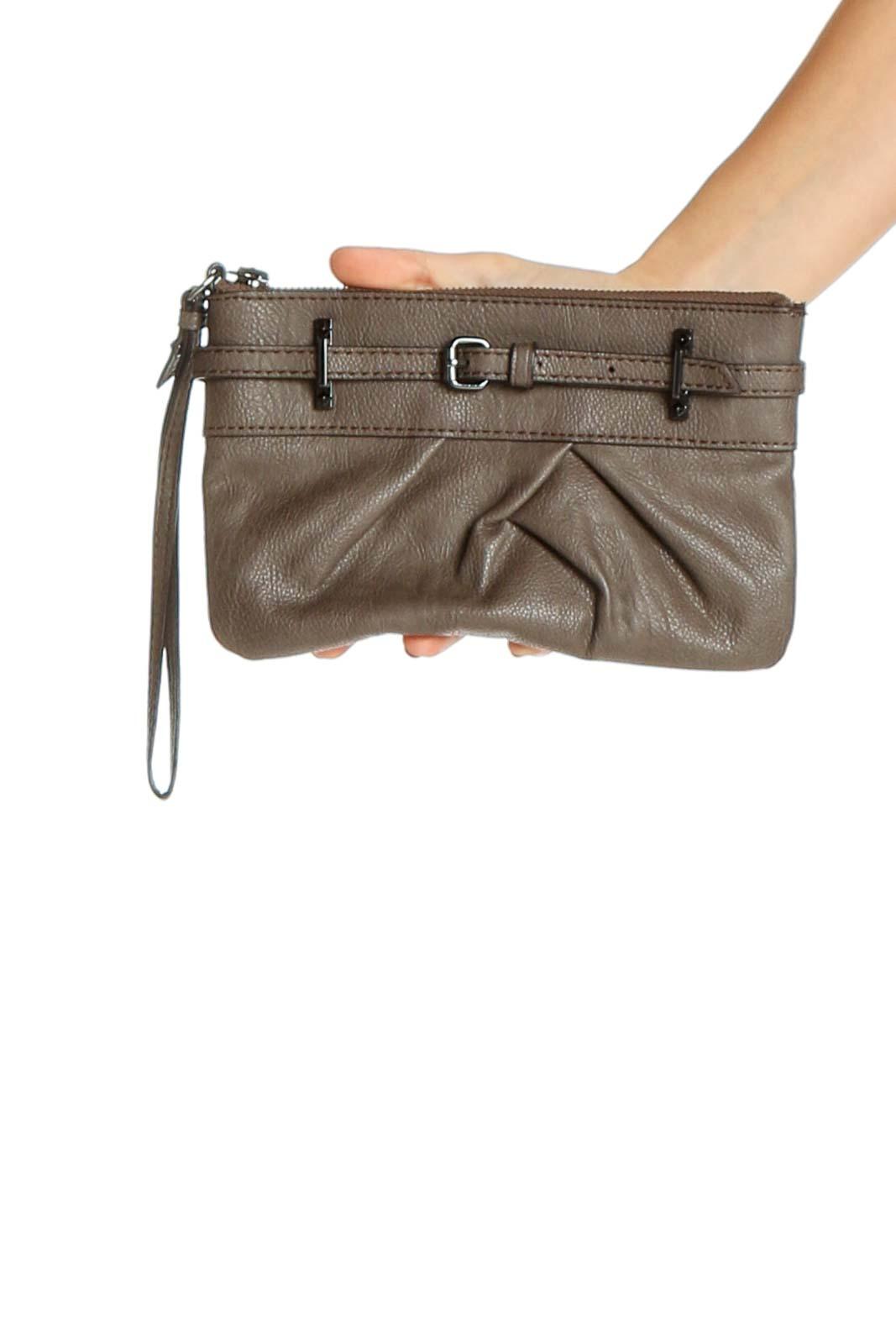 Brown Satchel Bag Front