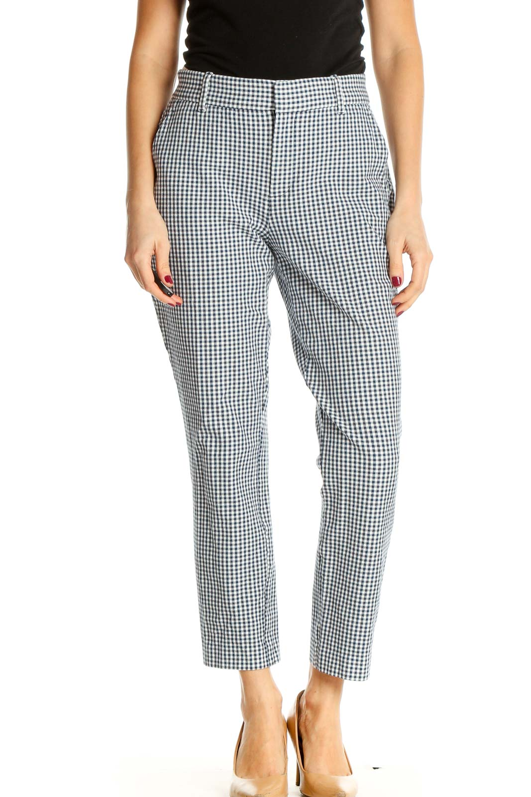 Gray All Day Wear Trousers Front