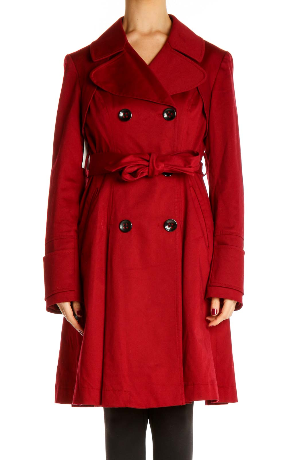Red Trenchcoat Front