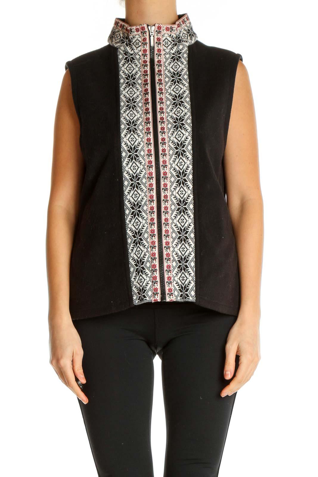 Black Vest Jacket Front