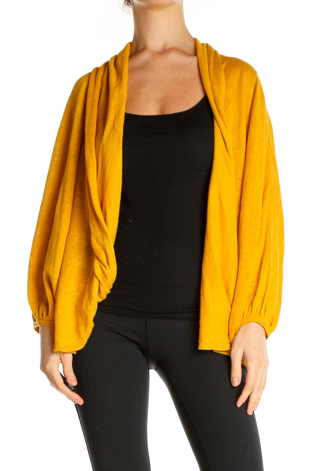 Yellow Cardigan Front