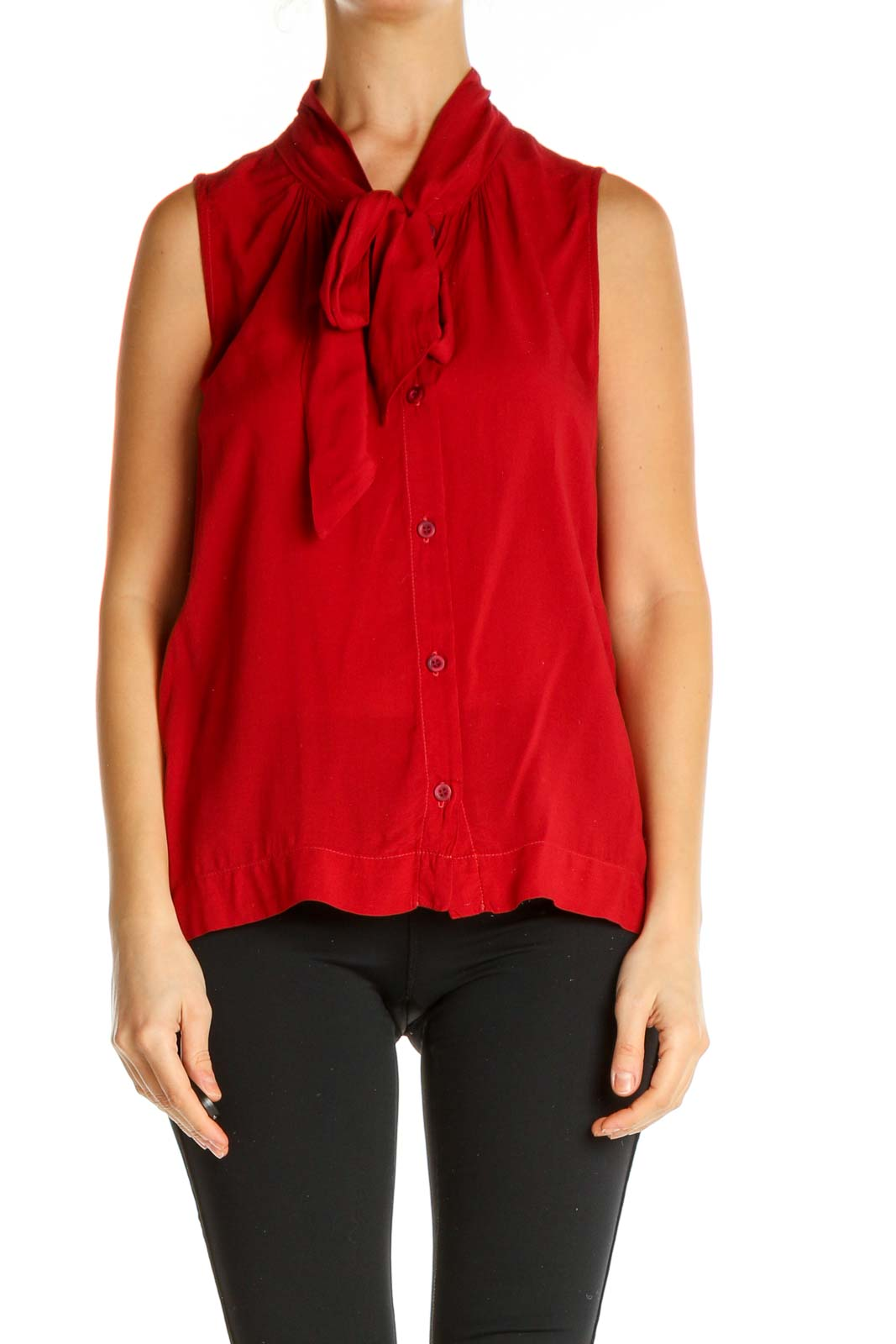 Red Solid All Day Wear Shirt Front