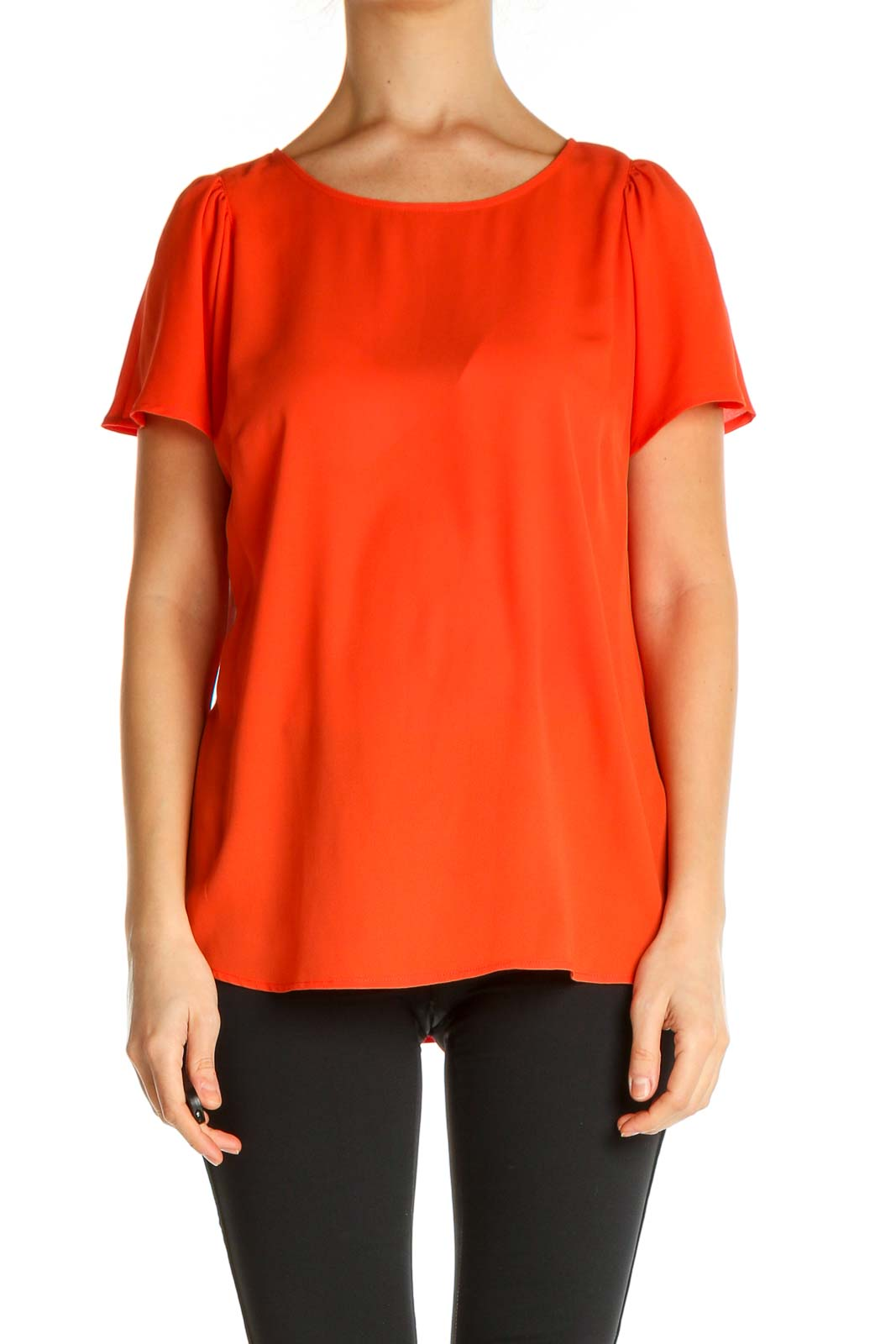 Red Solid All Day Wear T-Shirt Front