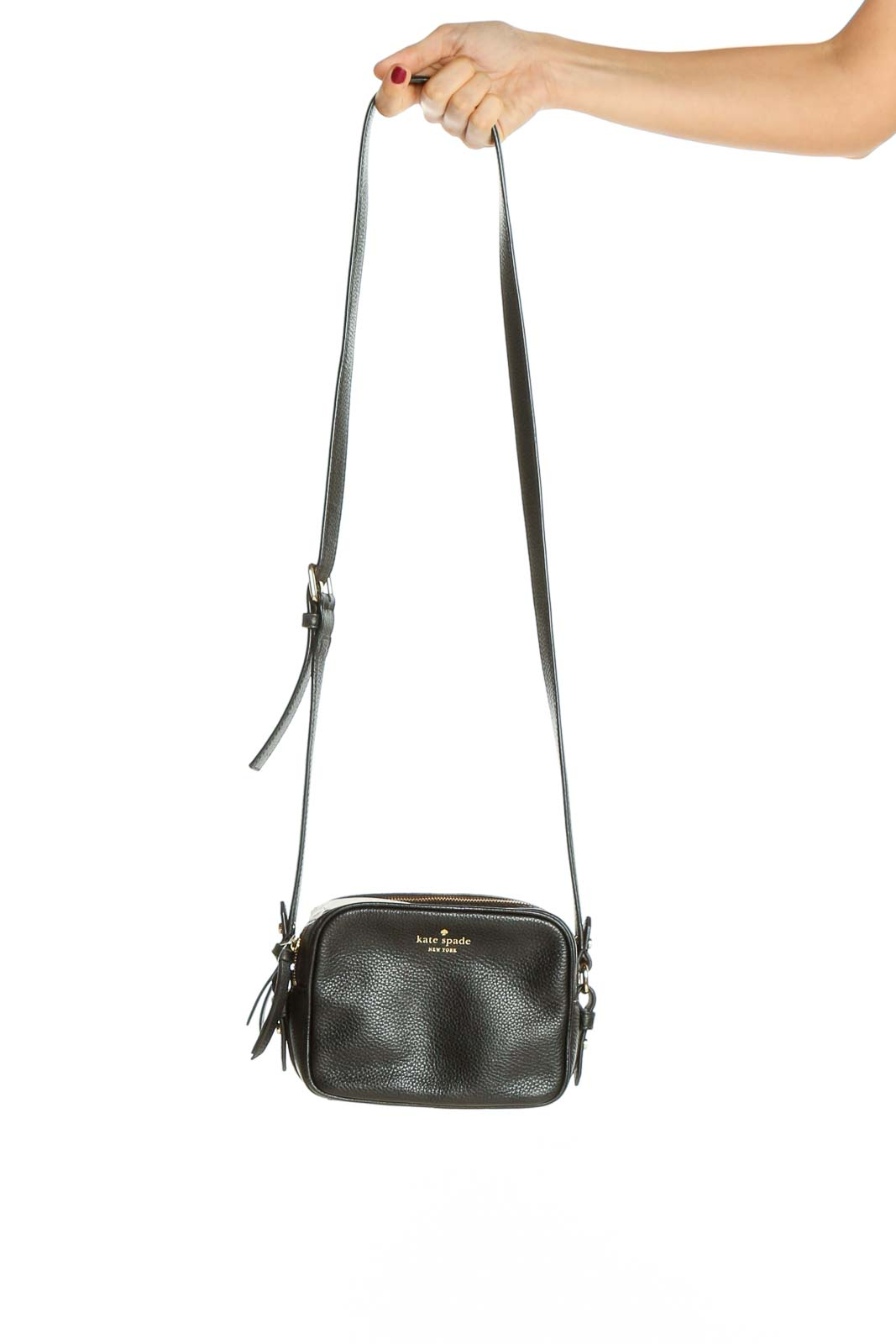 Black Crossbody Bag Front