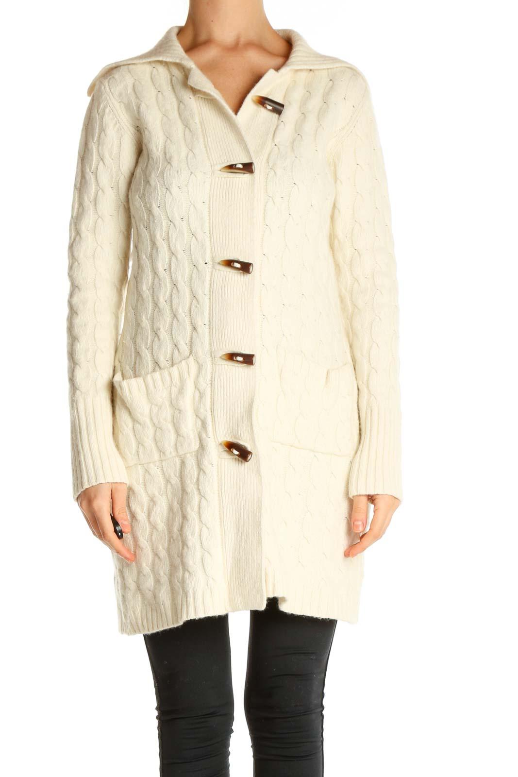 Beige Coat Front