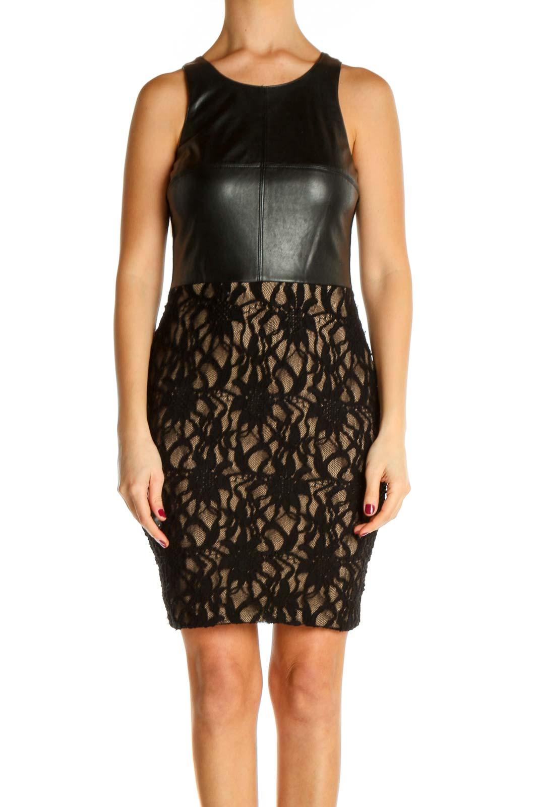 Black Sheath Dress Front