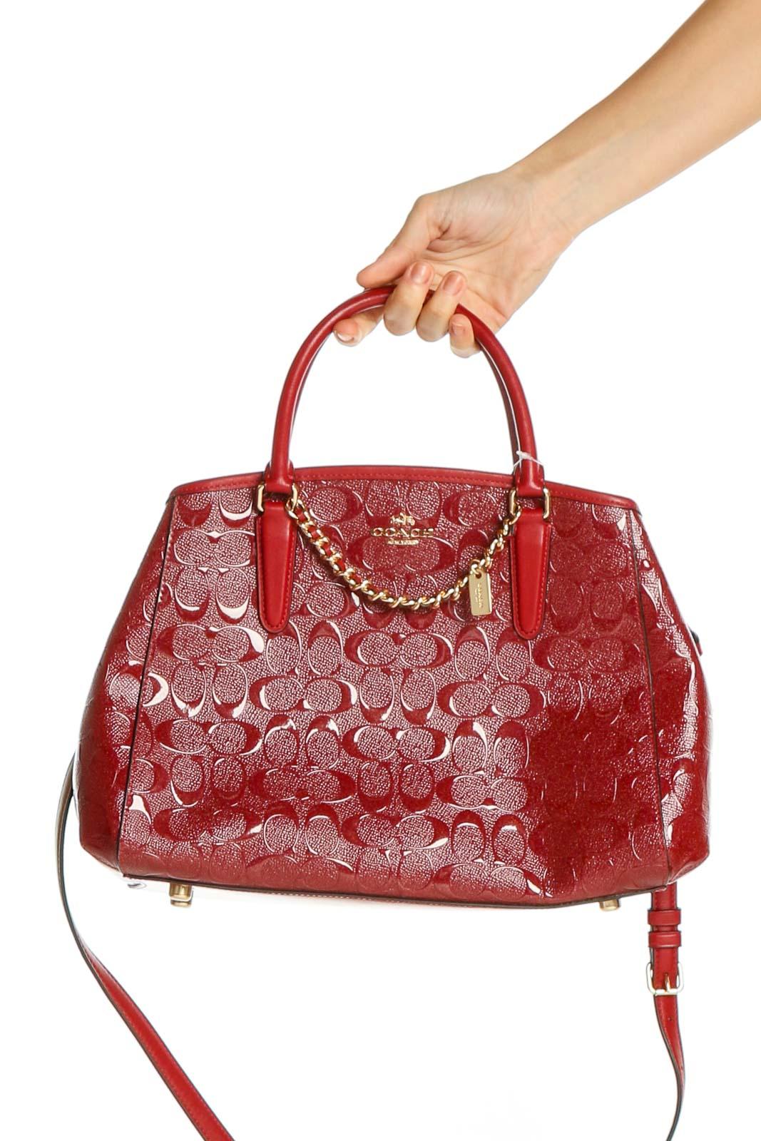 Red Satchel Bag Front