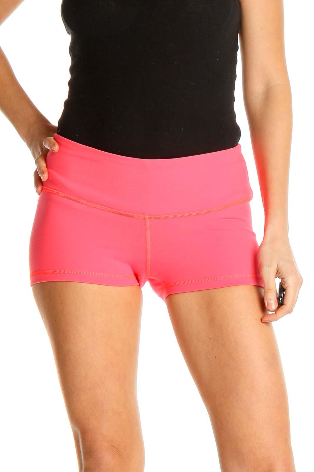 Pink Activewear Shorts Front