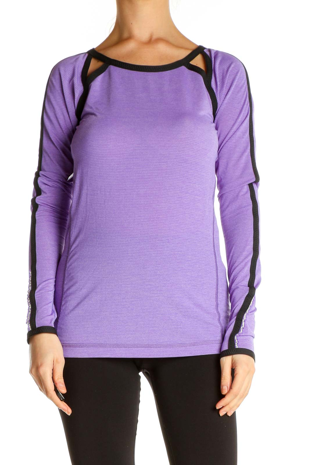 Purple Solid All Day Wear T-Shirt Front