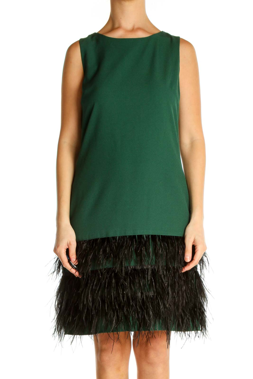 Green Chic A-Line Dress Front