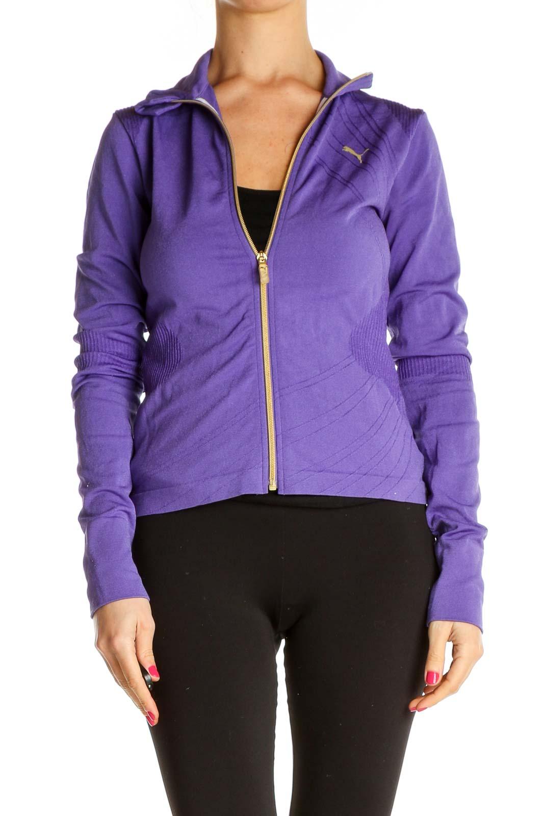 Purple Windbreaker Jacket Front
