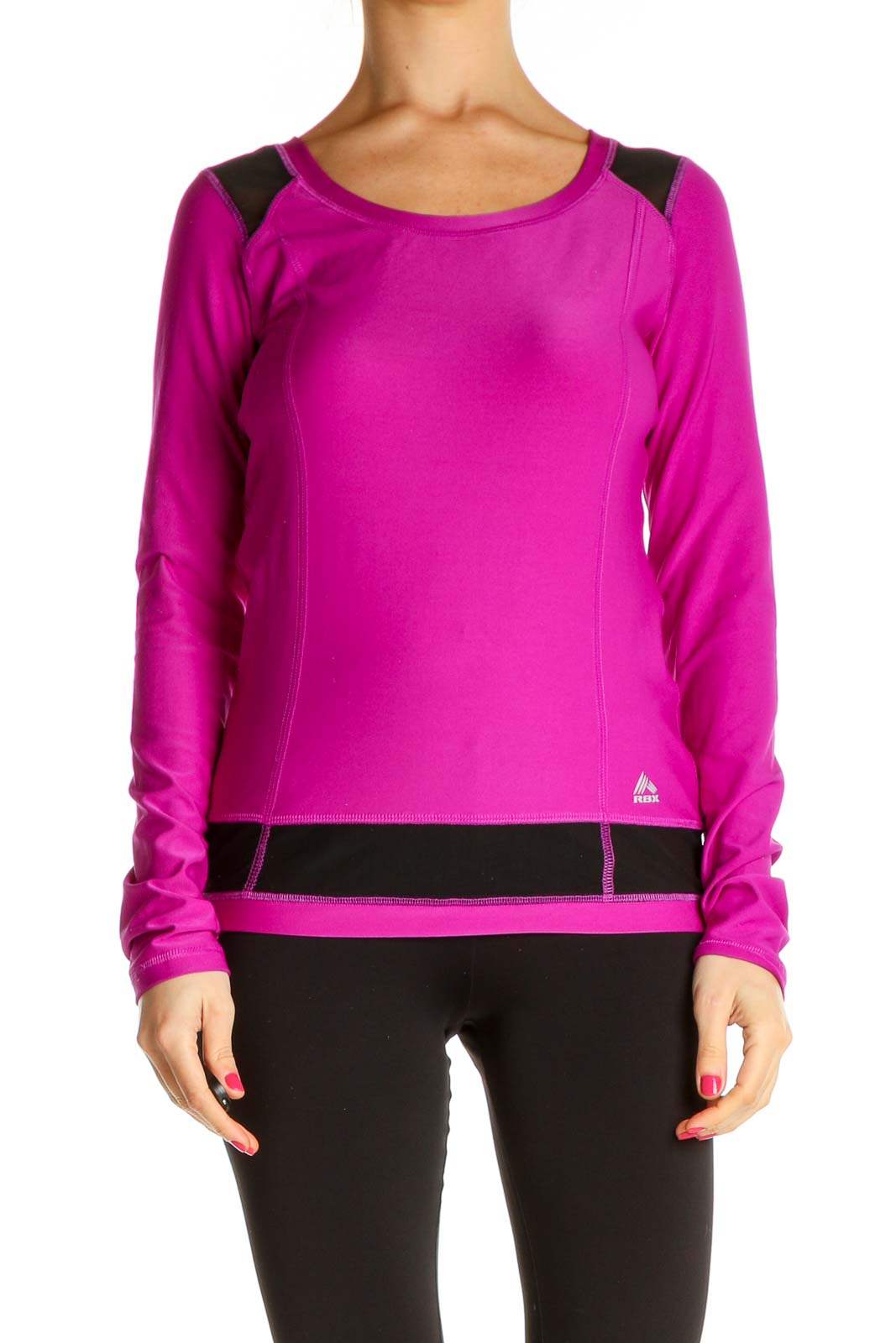 Pink Solid All Day Wear Sweater Front