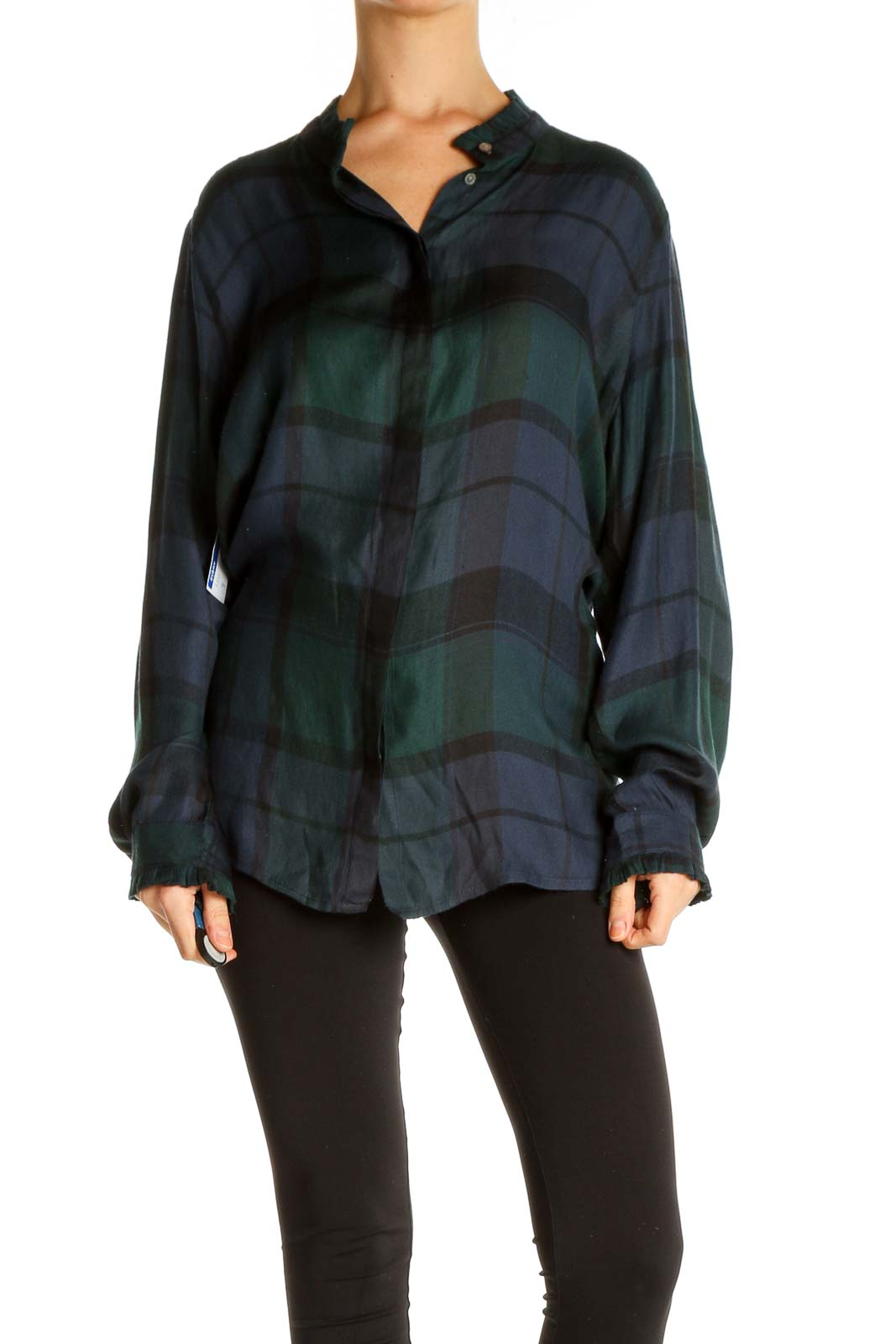 Green Checkered All Day Wear Shirt Front