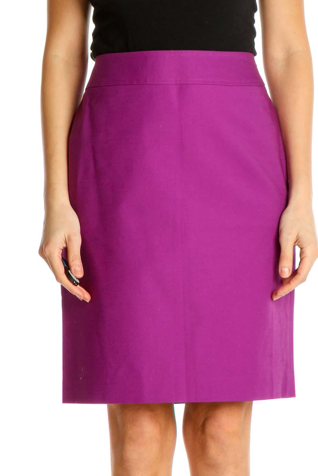 Pink Brunch Pencil Skirt Front