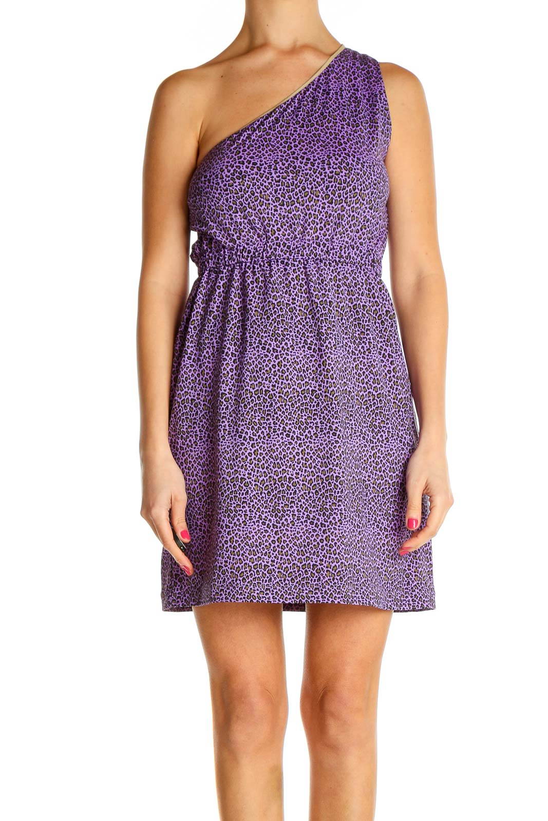 Purple Chic Fit & Flare Dress Front