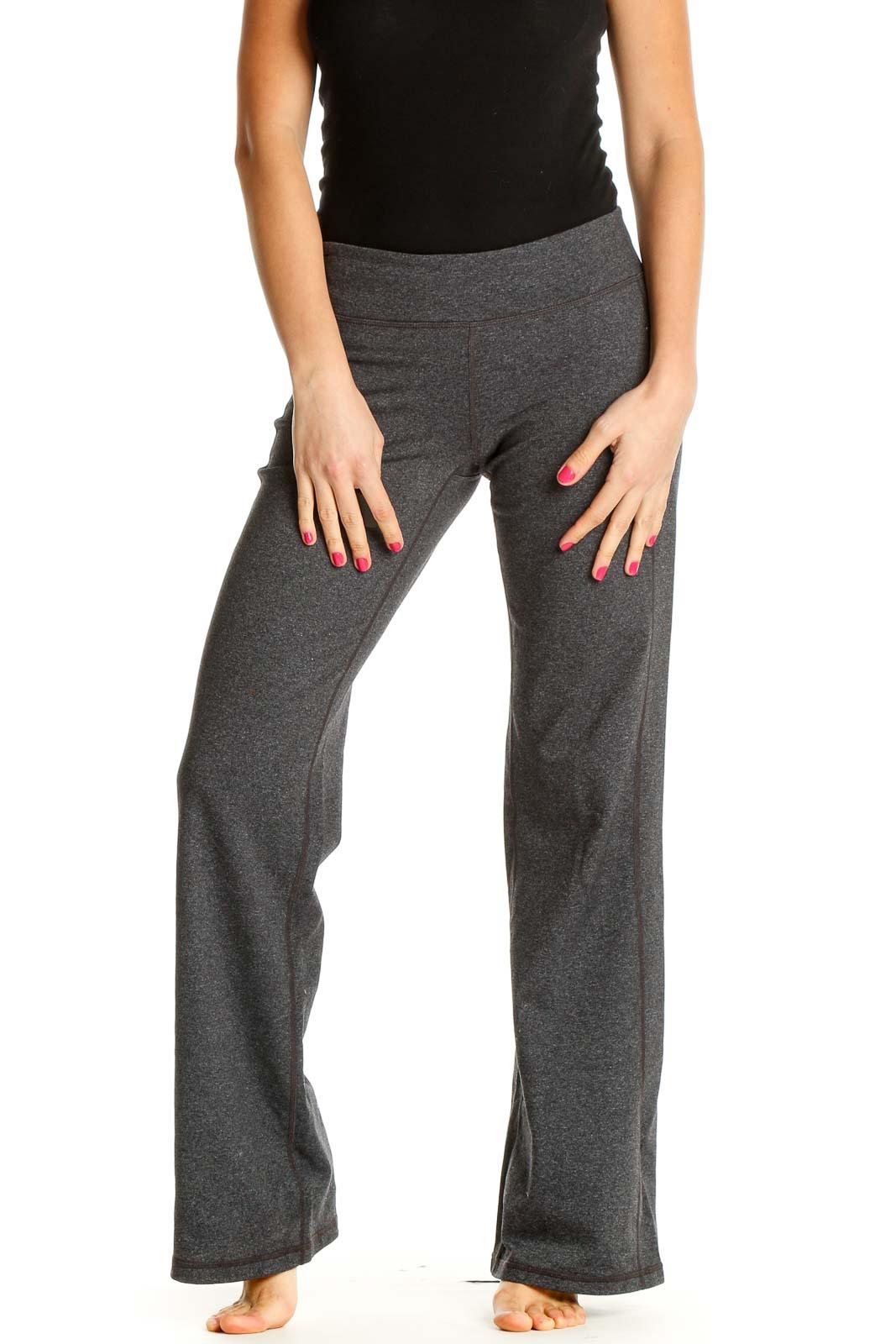 Beige Solid All Day Wear Leggings Front