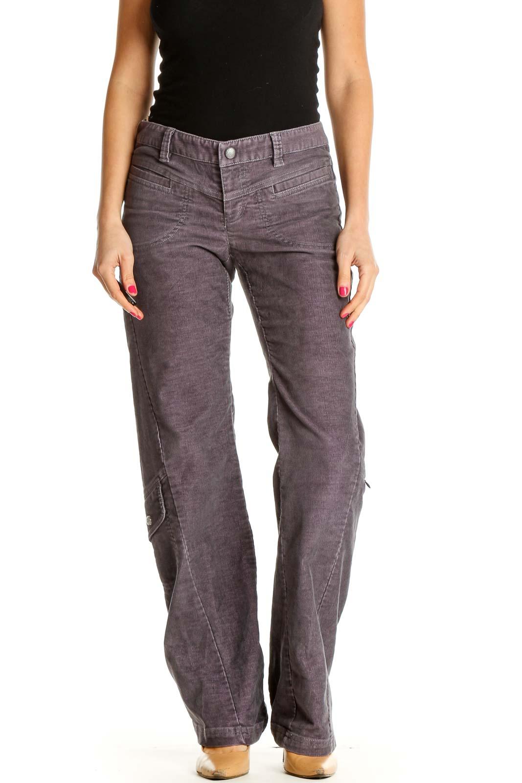 Purple Straight Leg Jeans Front
