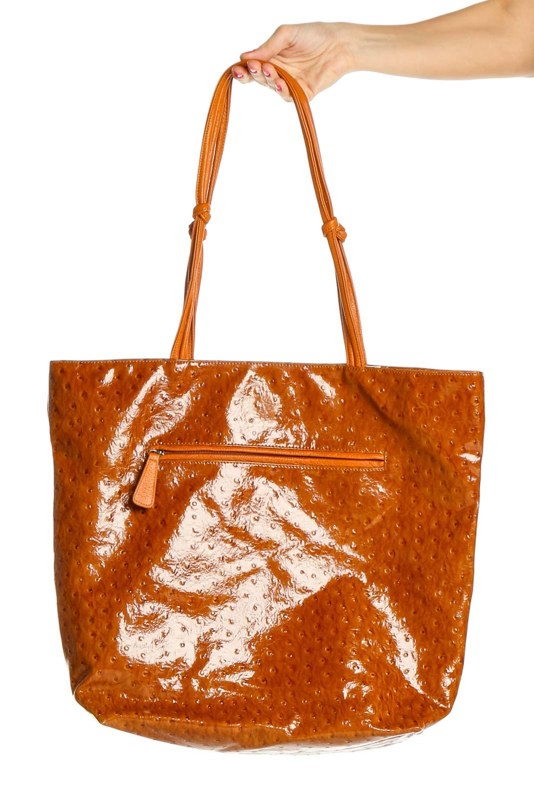 Orange Tote Bag Front