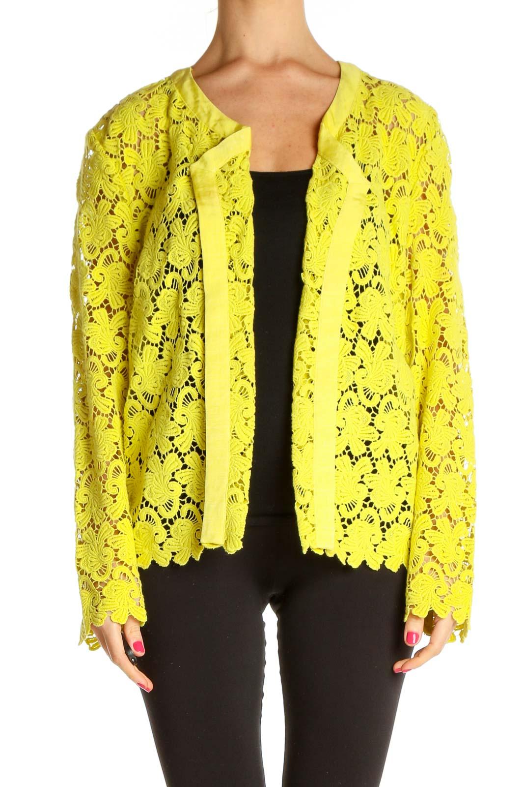Yellow Blazer Front