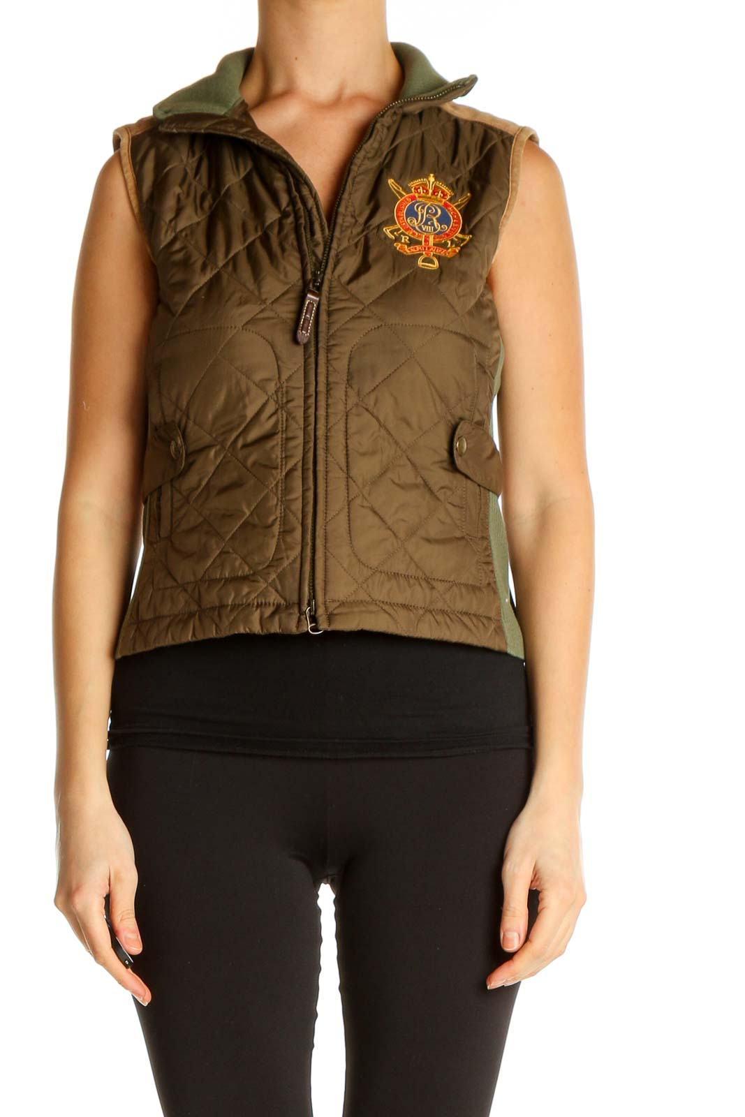 Brown Vest Jacket Front