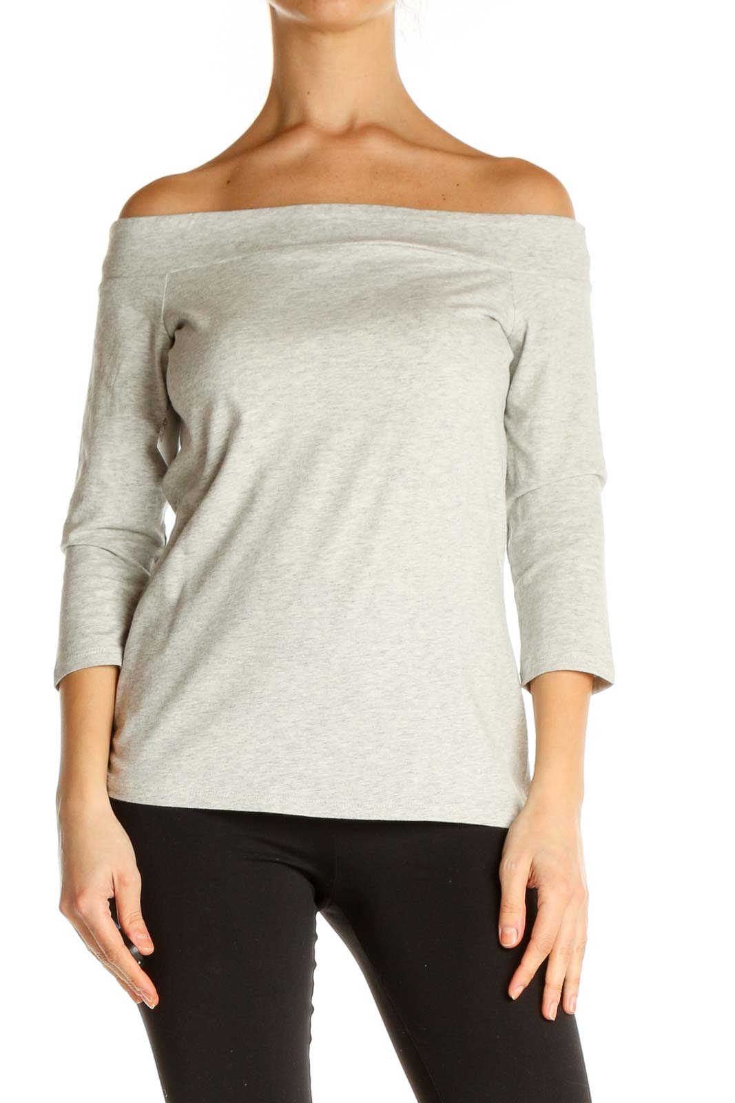 Beige Solid Brunch Sweater Front