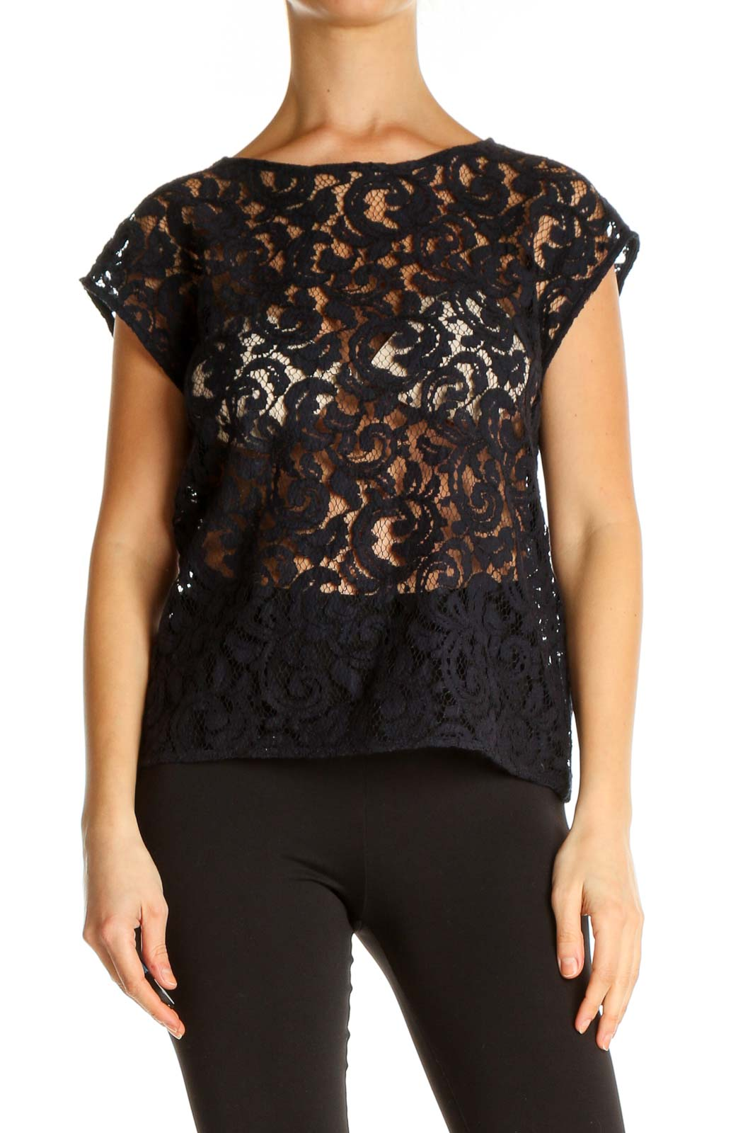 Bue Lace All Day Wear Blouse Front