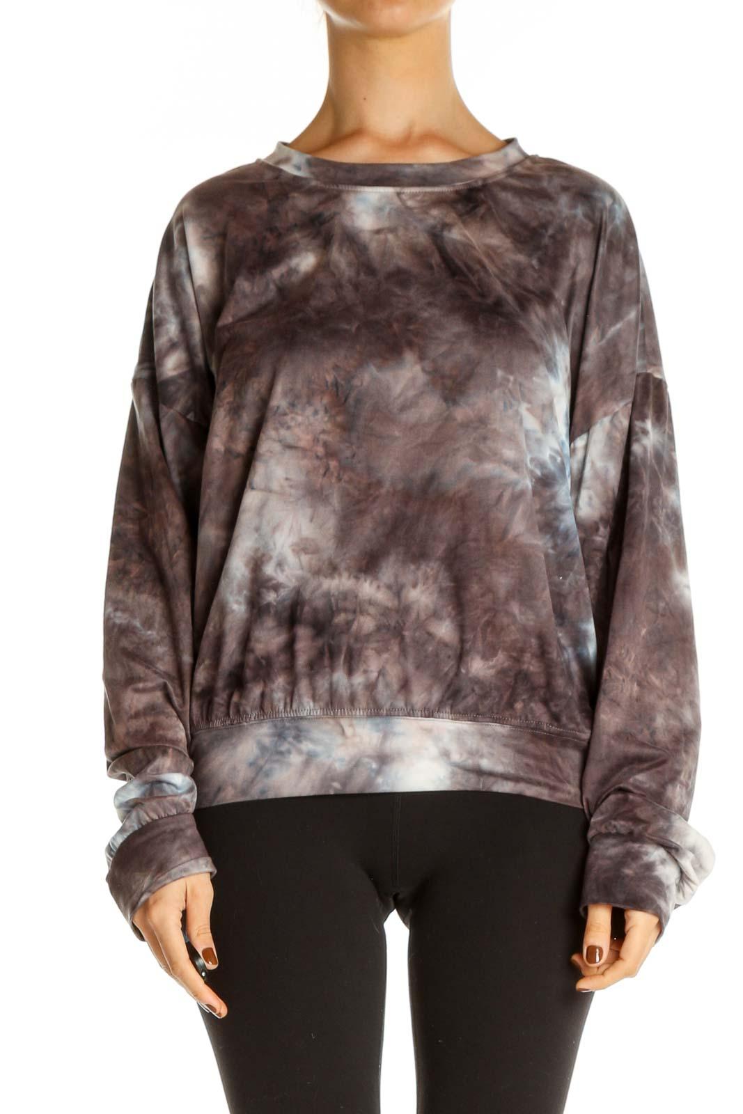 Brown Casual Sweatshirt Front